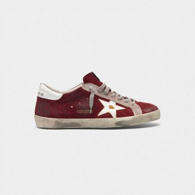 Superstar sneakers in suede leather with crackle star