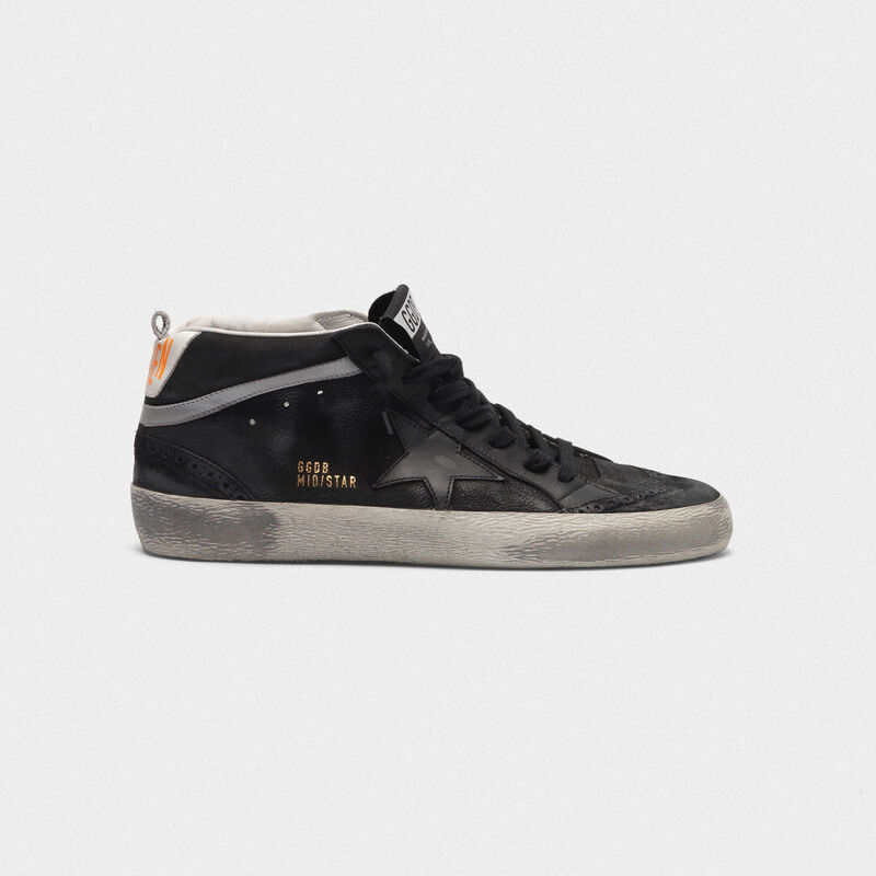 Golden Goose - Mid Star sneakers in leather with nubuck inserts  in  image number null