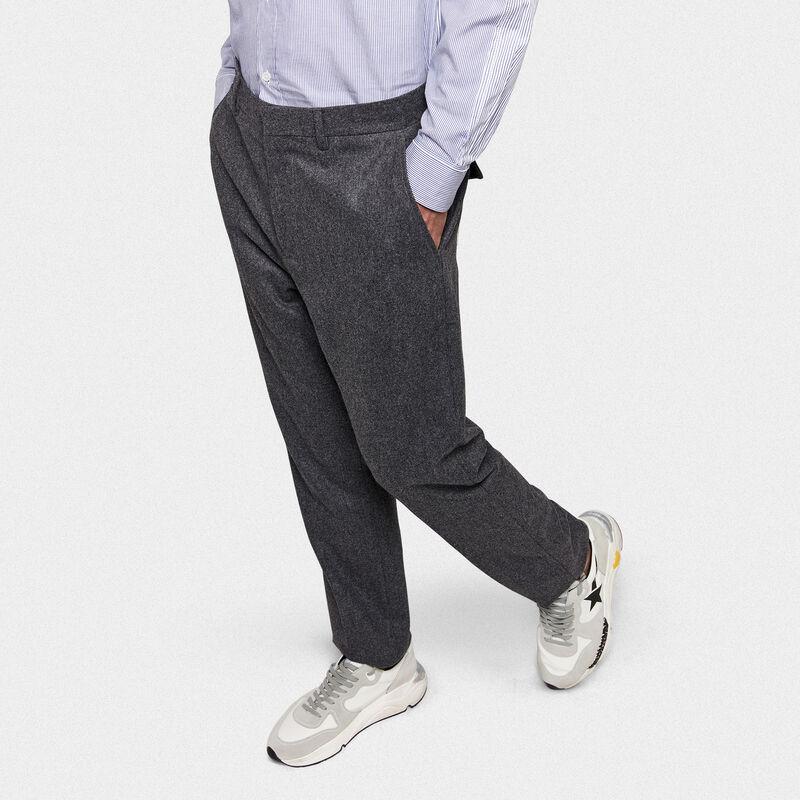 Golden Goose - Golden trousers in virgin wool in  image number null