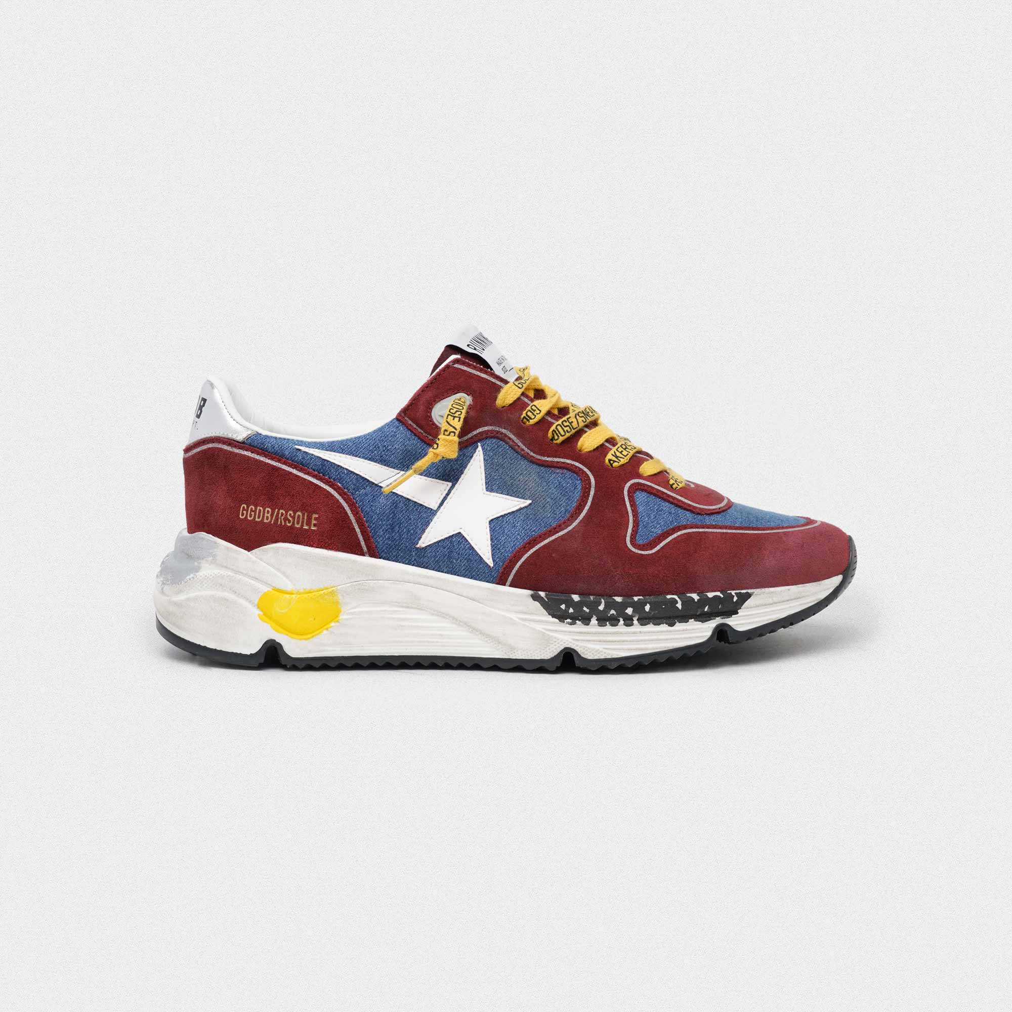 Burgundy and blue Running Sole